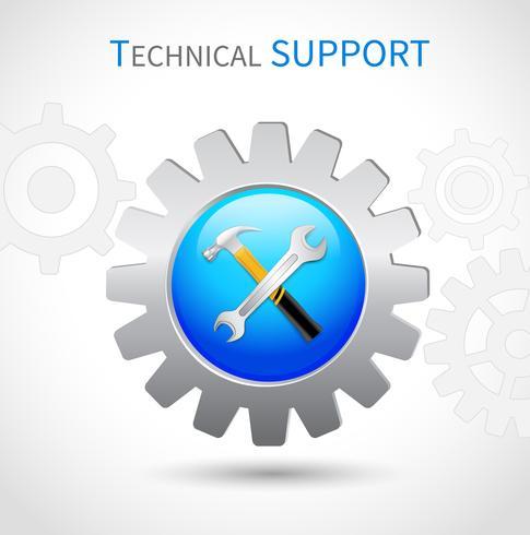 Icône de support technique vecteur