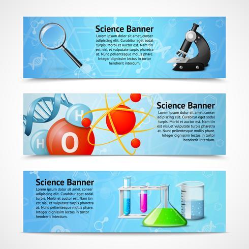 Wetenschap realistische banners