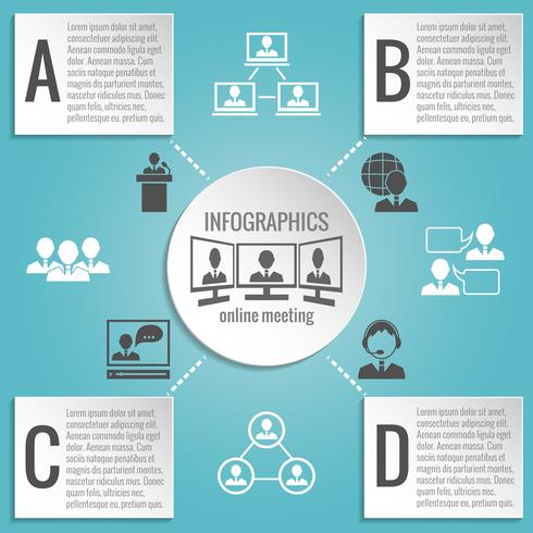 Empresarios reunidos infografías