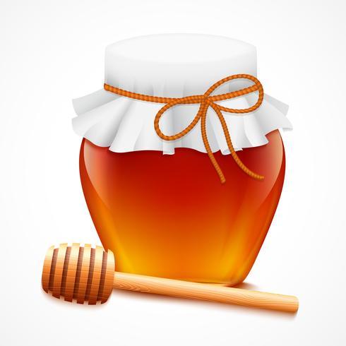 Pote de mel com emblema de dipper