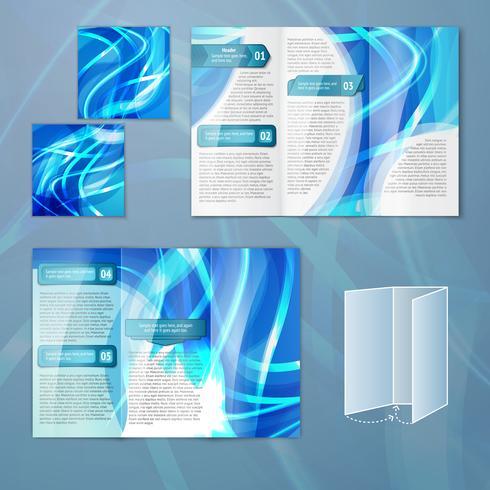 Blå broschyrmall