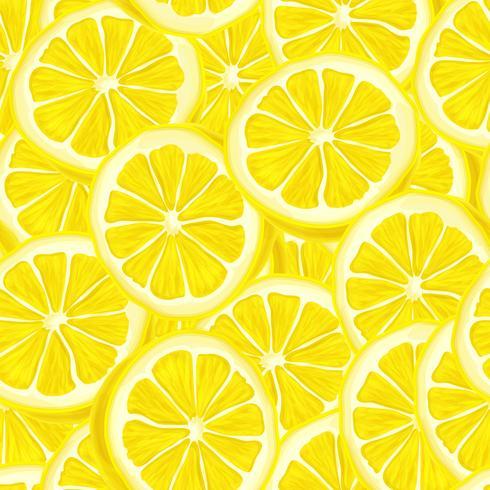 Gesneden citroen naadloze achtergrond vector