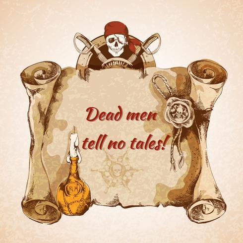 Fond de pirates vintage