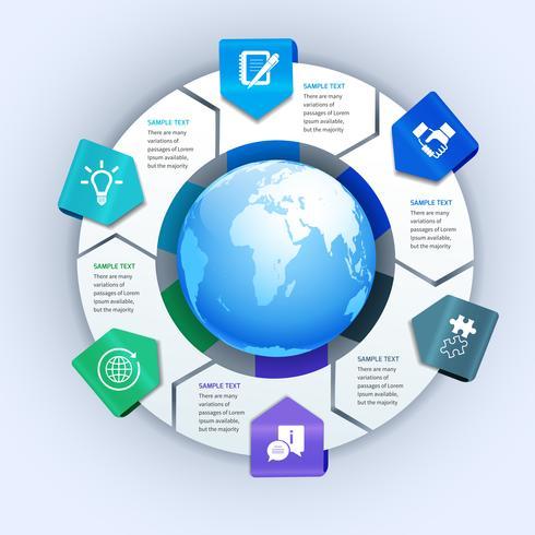 Elementi di infographics di affari di carta astratta
