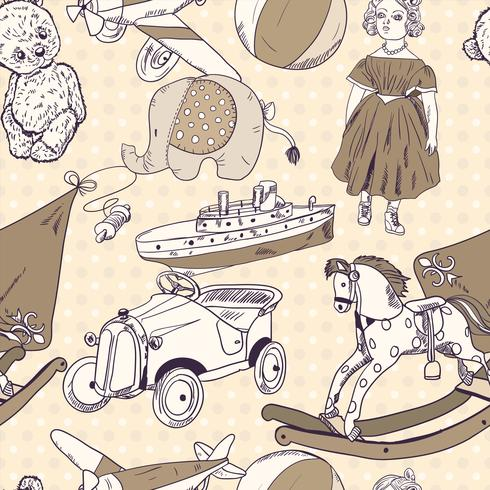 Spielzeug Skizze nahtlose Muster