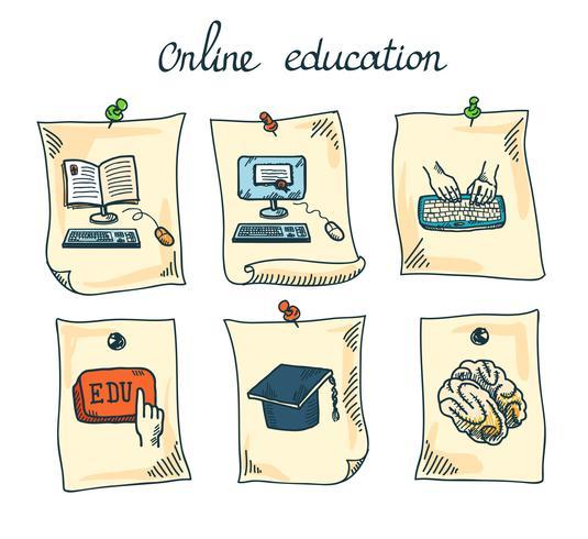 Onlineausbildungsaufkleber eingestellt
