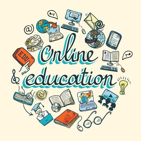 Online Education Icon Sketch Download Free Vectors Clipart Graphics Vector Art