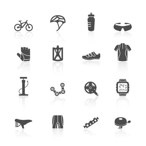 Cykel ikoner uppsättning vektor