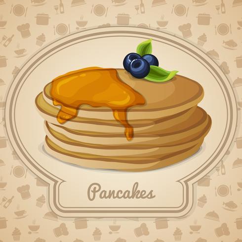 Pancakes con poster di sciroppo