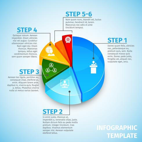 Pie chart meeting infographic vector