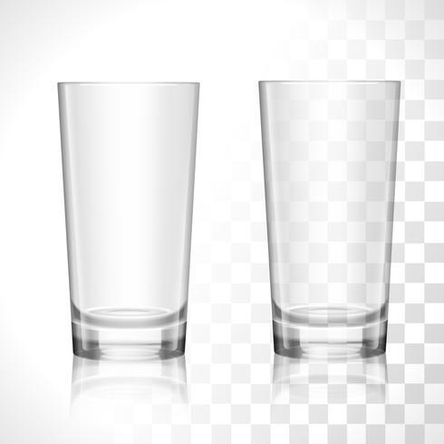 Lege glazen instellen vector