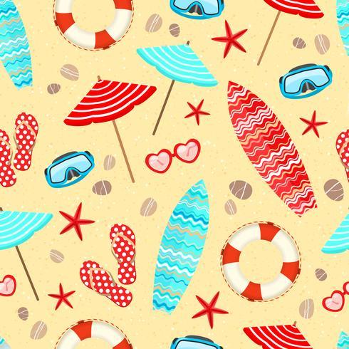 Seamless summer holiday pattern vector