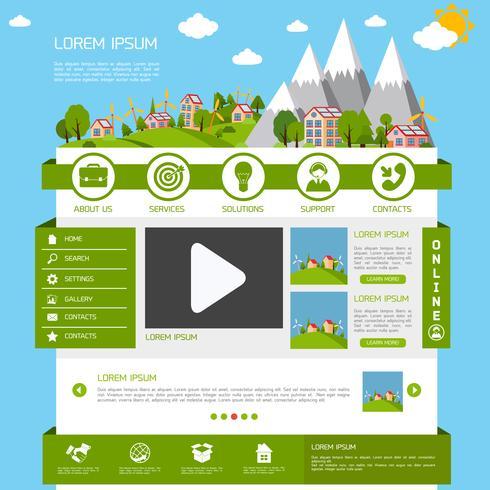 Plantilla de sitio web ecológico