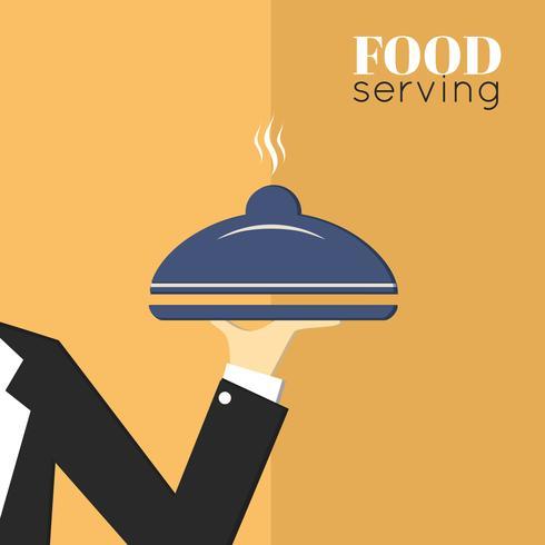 Bandeja de comida para servir vector