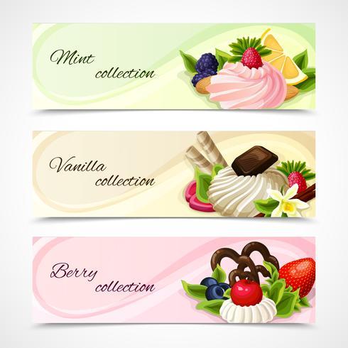 Sweets banners horizontal