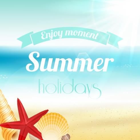 Cartaz de férias de férias de verão vetor