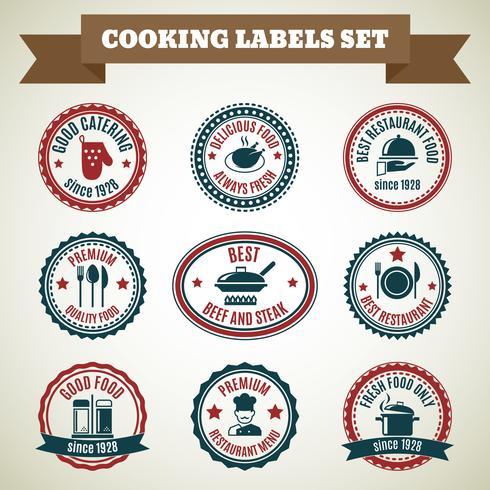 Étiquettes de cuisine