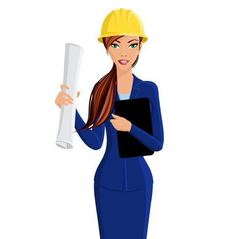Retrato de mujer ingeniero
