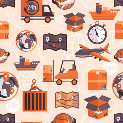 Logistic seamless pattern vector