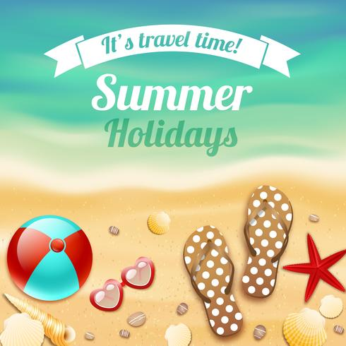 Fondo di viaggio di vacanza di vacanza estiva