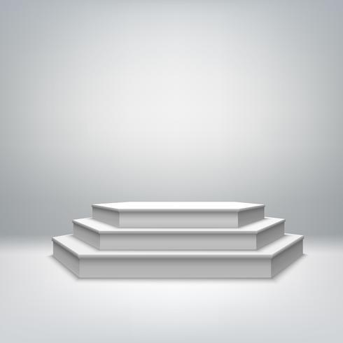 Pódio de palco branco em branco vetor