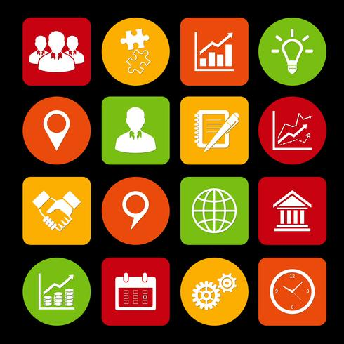 Business Icons Set et éléments de conception