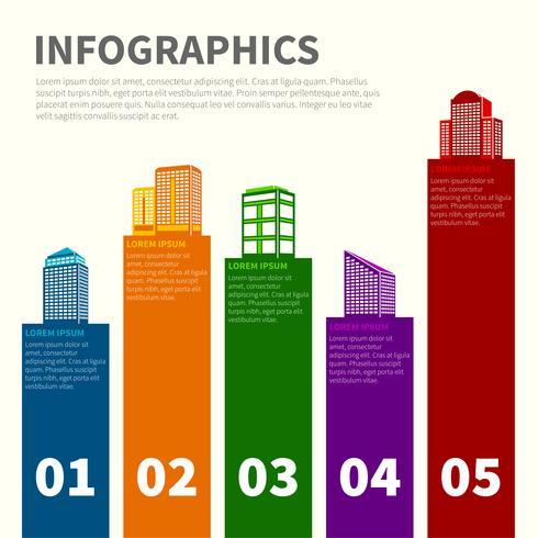 Conjunto de infográfico de edifício
