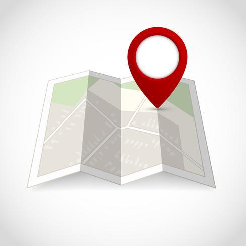 Mappa con simbolo pin