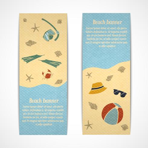 Bannières de vacances d'été verticales