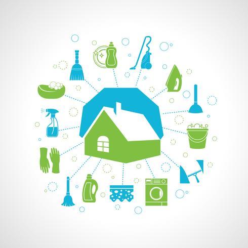 Hus rengöring koncept