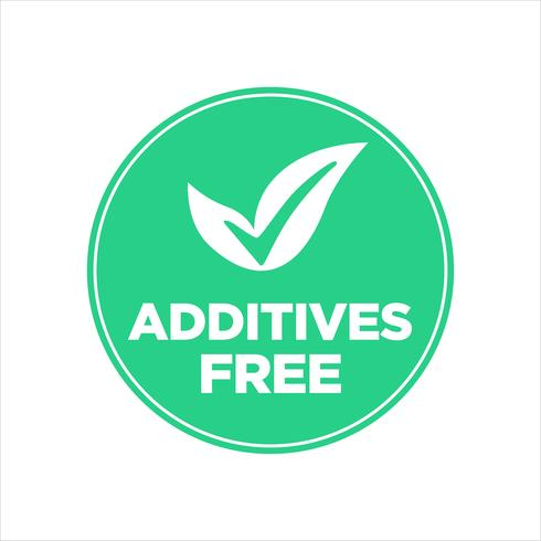 Additives free icon. vector