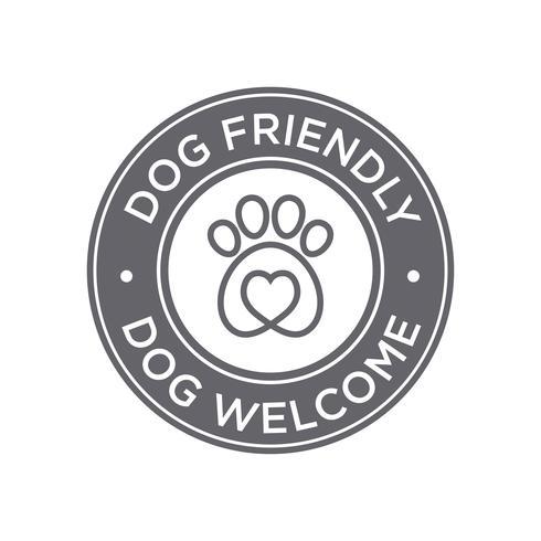 Icono de perro amigable