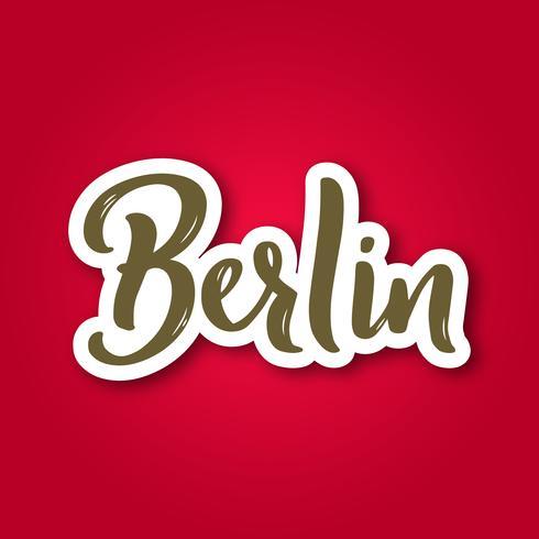 Berlin - handgezeichnete Schriftzug Satz.