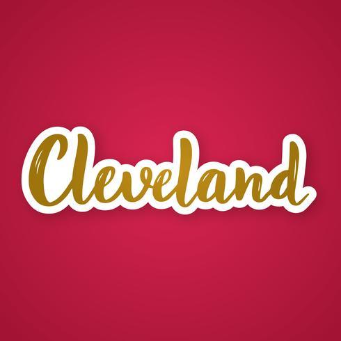 Cleveland - phrase de lettrage dessinée à la main.
