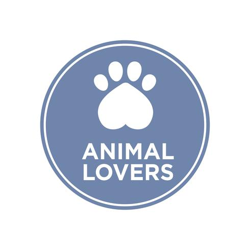 Animal lovers icon.