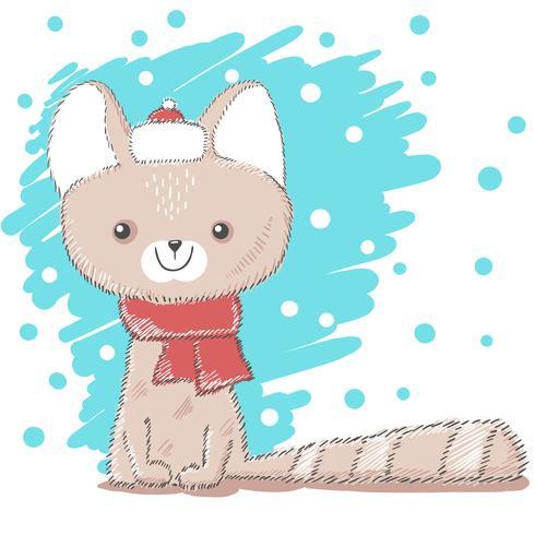 Ilustração bonito, bonita do gato do amor.