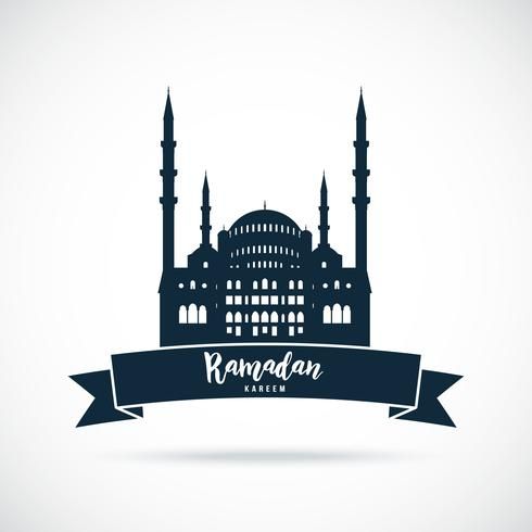 Ramadan Kareem. Mosque sign.  vector