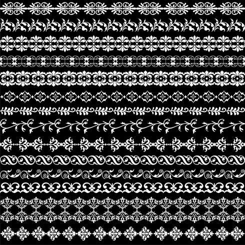 patrones de borde adornado blanco vector