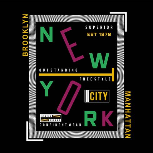 brooklyn,manhattan graphic typography t-shirt