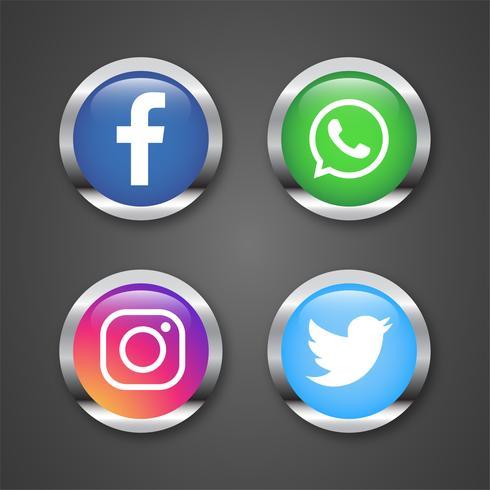 Coleção de logotipo de mídia social popular