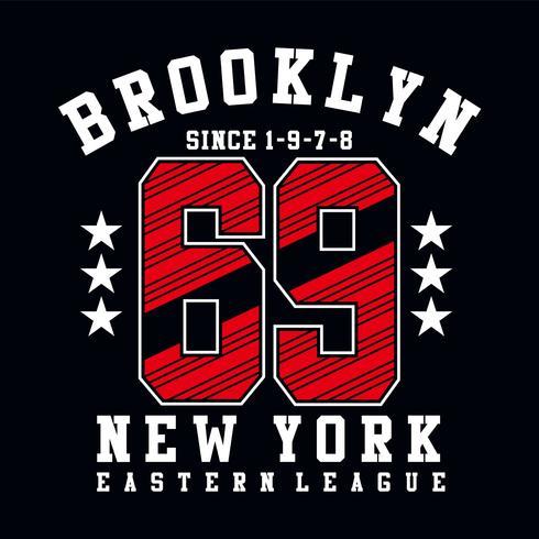 Brooklyn soixante-neuf typographie conception imprimer d'autres utilisations