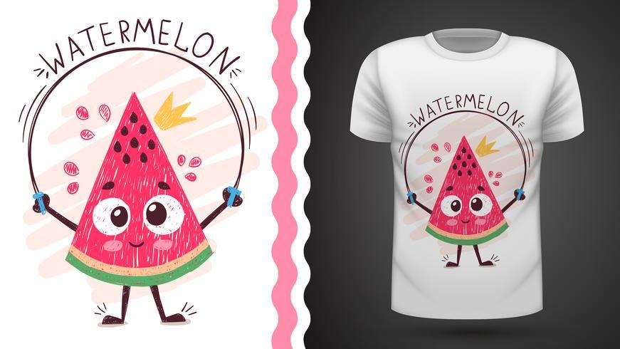 Melon d'eau douce - idée d'un t-shirt imprimé