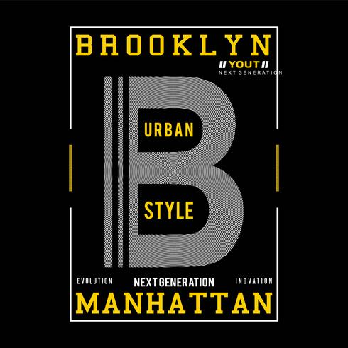 design tipografia brooklyn per t-shirt stampa altri usi