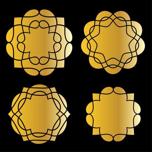 gold medallion shapes