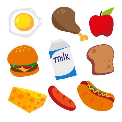 design della collezione alimentare vettore