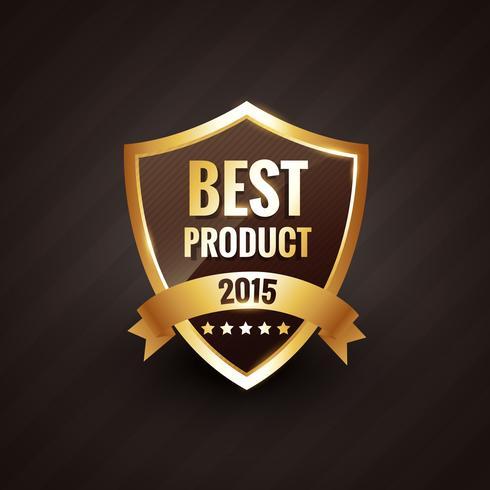melhor produto do emblema de design de rótulo dourado de vetor de 2015