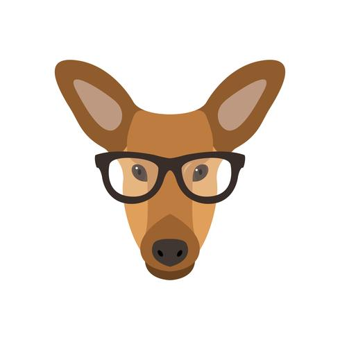 Deer female in glasses.