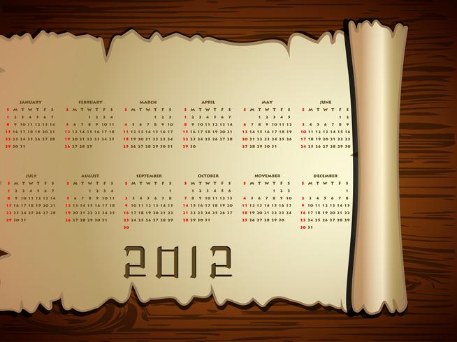 calendrier de nouvel an