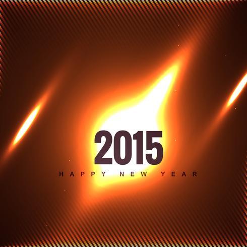 creativo 2015 nuovo anno di progettazione in fiamme