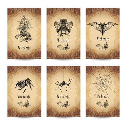 Ensemble de bannière de sorcellerie vintage